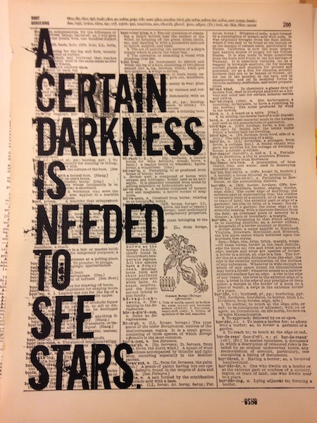 Dictionary Page Print - A certain darkness is needed to see stars, Osho quote