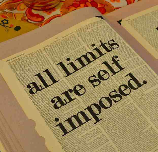 Dictionary Page Print - All limits are self-imposed