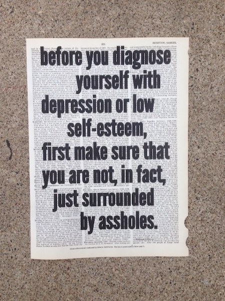 Dictionary Page Print - Before you diagnose yourself with depression...