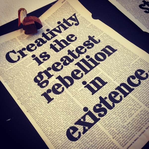 Dictionary Page Print - Creativity is the greatest rebellion...Osho quote