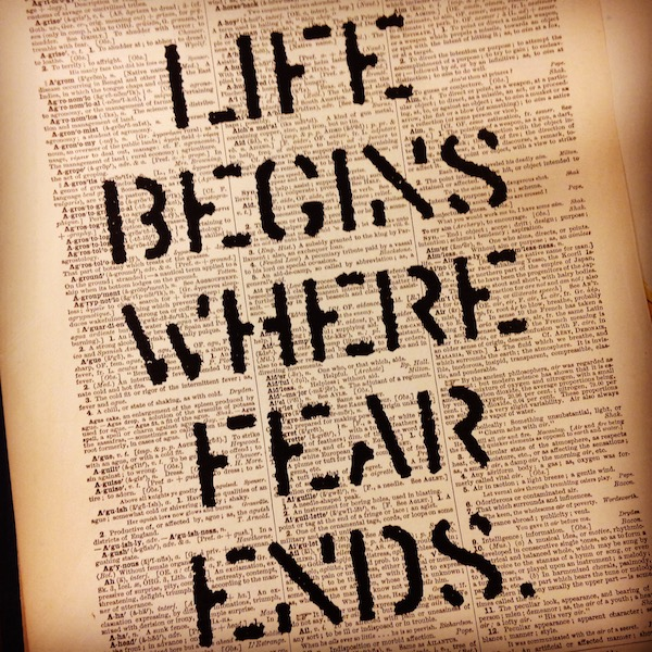Dictionary Page Print - Life begins where fear ends. -Osho