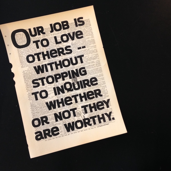 Dictionary Page Print - Our job is to love others...Thomas Merton quote