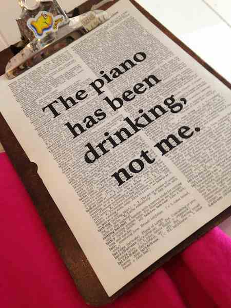 Dictionary Page Print - The piano has been drinking, not me - Tom Waits