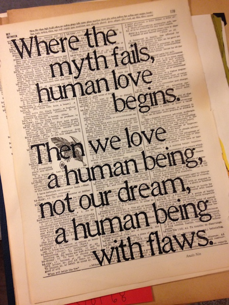 Dictionary Page Print - Where the myth fails...Anaïs Nin quote