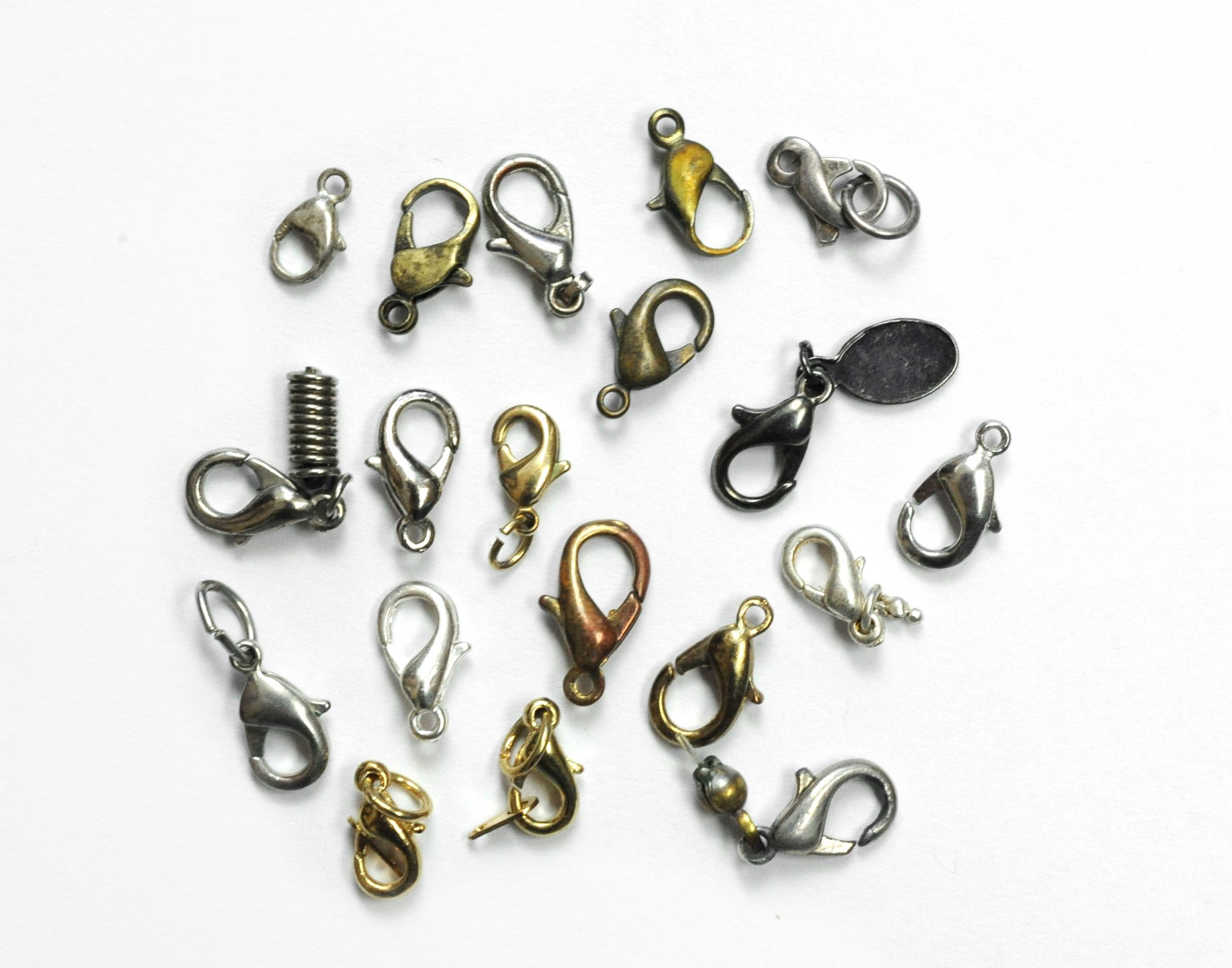 10 Grams of Mixed Metal Lobster Claw Necklace Clasps