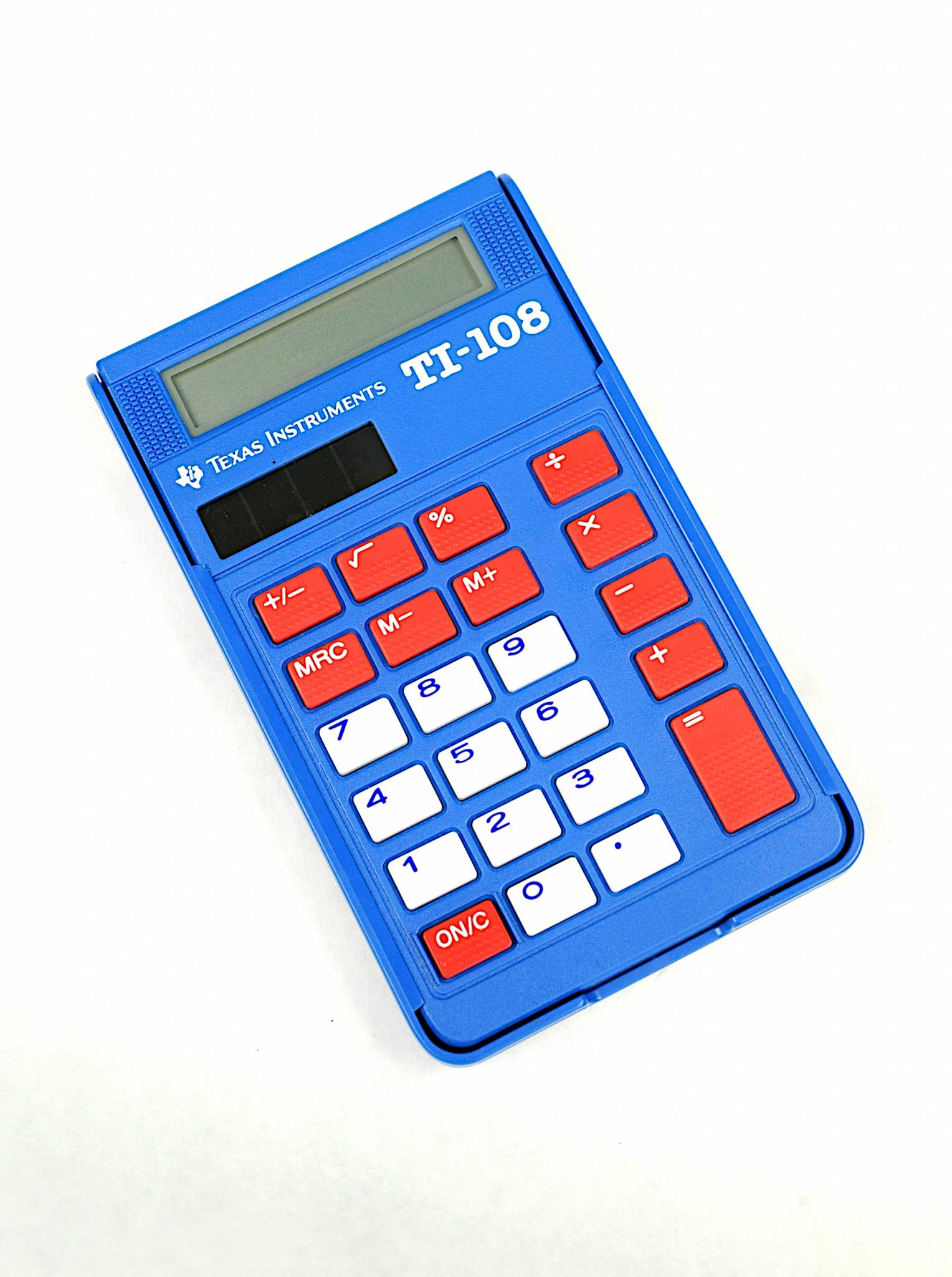 Texas Instruments TI-108 solar power basic calculator