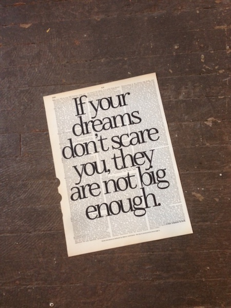 Dictionary Page Print - If your dreams don't scare you...Ellen Johnson Sirleaf quote