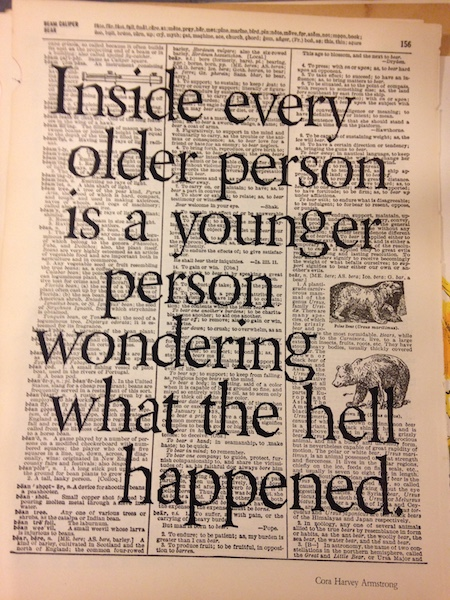 Dictionary Page Print - Inside every older person...