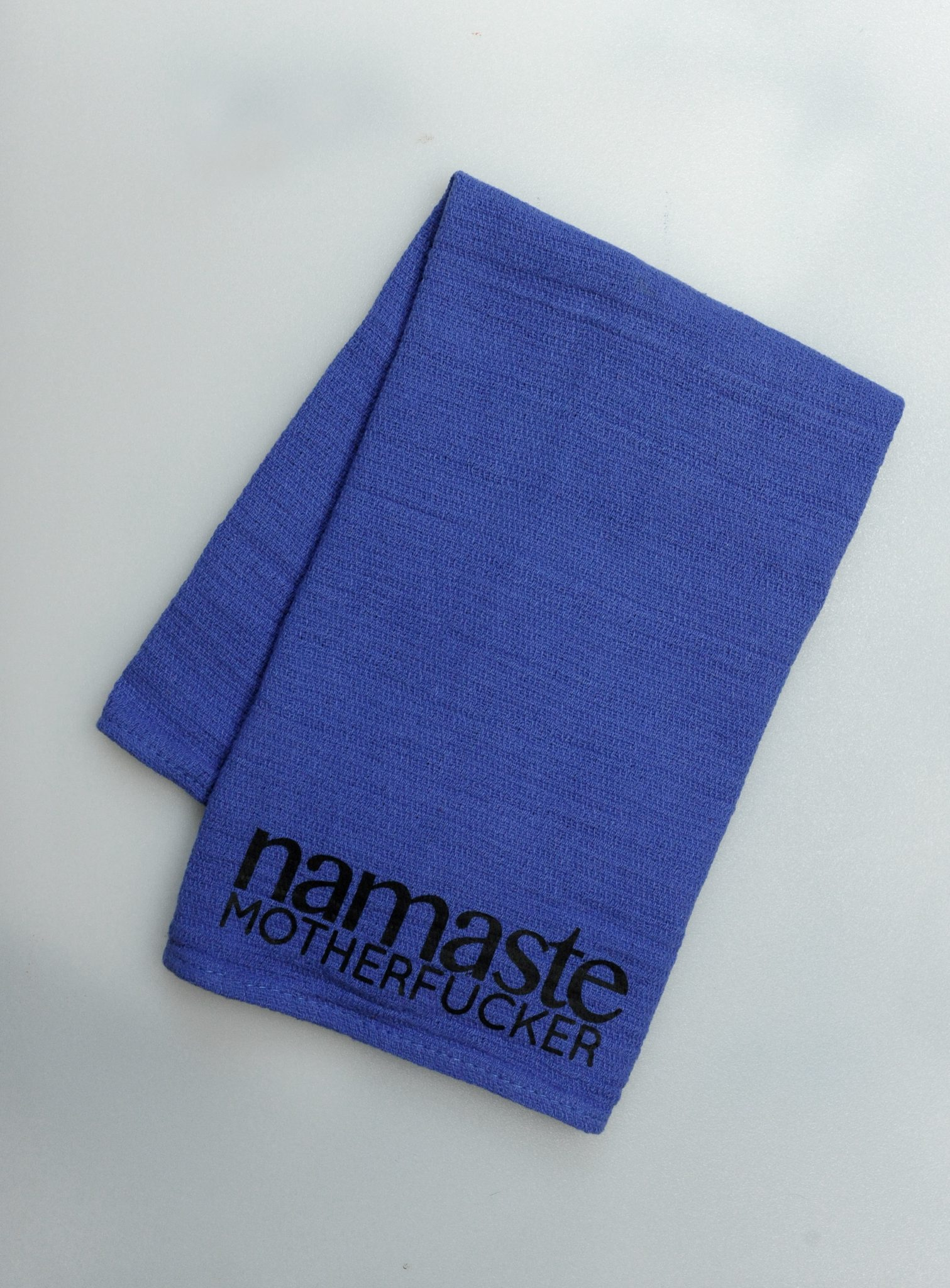 Re-purposed 100% Cotton Blue Surgical Hand Towel - Namaste...