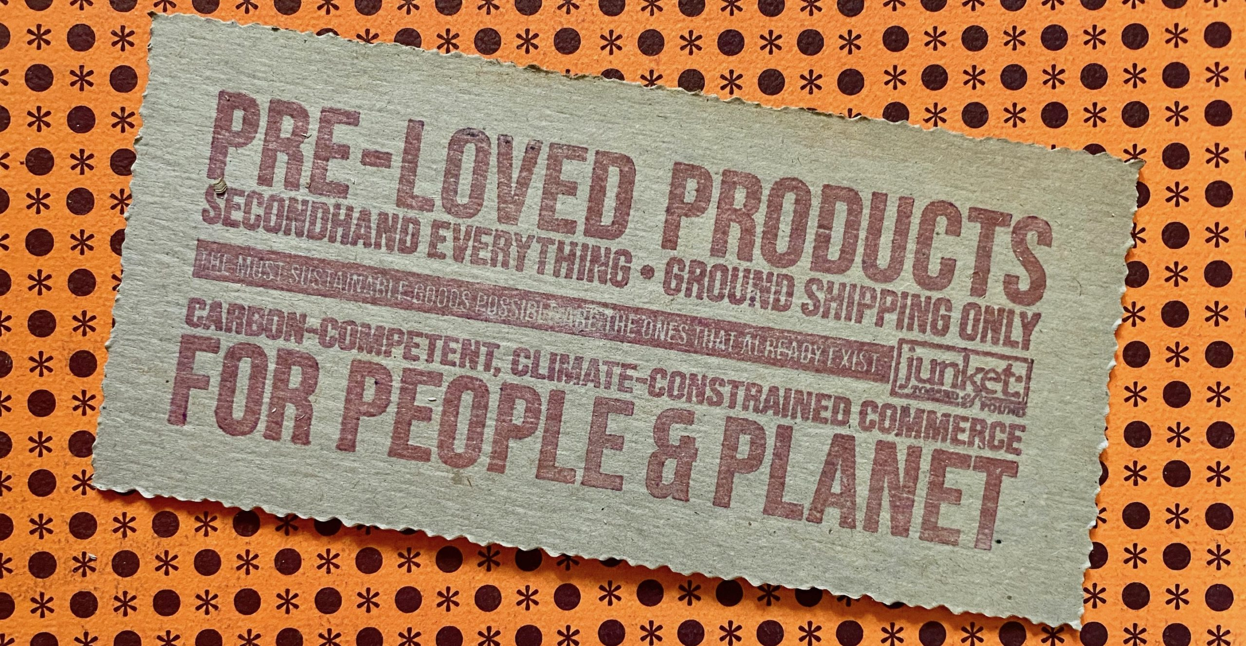 Intended to communicate that this is a business that sells secondhand goods with an environmental and human oriented purpose.